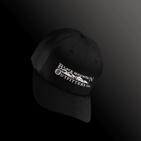 black hat white font