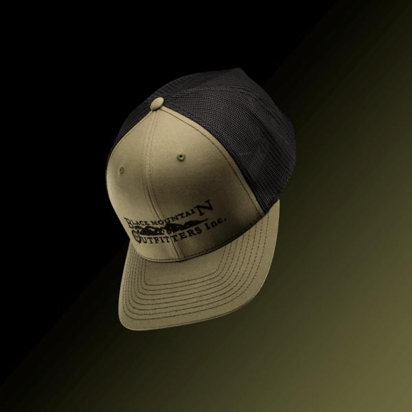 Olive hat black font